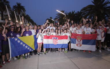 Spectacular closing Ceremony of 23. Youth Sports Games in Split