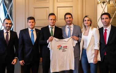 Youth Sport Games delegation meeting with Hungarian government